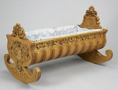 Cradle commissioned by Queen Victoria for the birth of Princess Louise. 1850.
