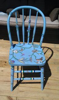 Painted and accented this chair with ModPodge and pictures. It will be going in my garden. Upcycled Furniture, Furniture Ideas, Garden Chairs, The Ranch, Wedding Stuff, Space, Creative, Interior, Pictures