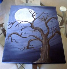 My 4th Painting :) Practicing painting tree branches, it's a little hard but worth it! Found a nice tutorial by Amy Pearce on how to paint tree branches, link is in my blog if anyone would like to try it!