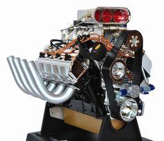 model car engine detailing   Summit Racing 1:6 Scale Top Fuel Hemi Racing Engine