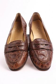 56e012ab306 Vintage RALPH LAUREN Alligator Loafer Shoes - Rice and Beans Vintage Penny  Loafers