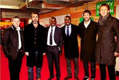 Ole Gunnar Solskjaer, Eric Cantona, Dwight Yorke, Andy Cole, Ruud van Nistelrooy and Edwin van der Sar, Manchester United FC.