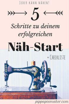 Ein einfacher Leitfaden für deinen erfolgreichen Näh-Start! Über die richtige Nähmaschine, das Näh Zubehör bis zu dem passenden Tutorial, alles was du brauchst um dein erstes Naeh-Projekt erfolgreich zu verwirklichen!
