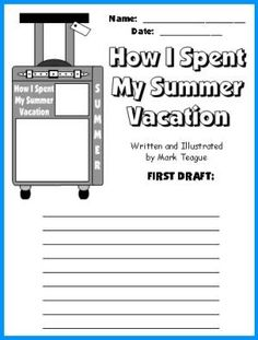 How I Spent My Summer Vacation Lesson Plans: Author Mark Teague