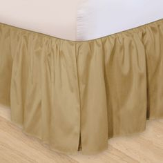 Ruffled 3pc Adjustable Bed Skirt