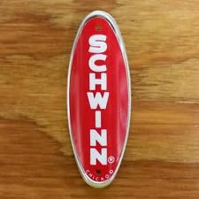 BICYCLE HEAD BADGE SCHWINN APPROVED STINGRAY RED NOS