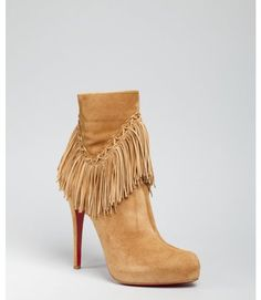 Camel Suede Rom 120 Fringed Ankle Boots - Lyst