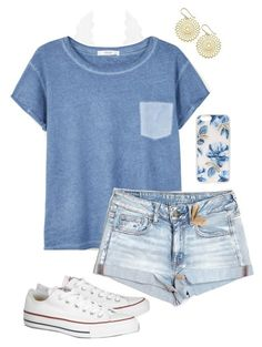 """Casual Outfit"" by caelia-nautia ❤ liked on Polyvore featuring Charlotte Russe, MANGO, Converse, American Eagle Outfitters and Sonix"