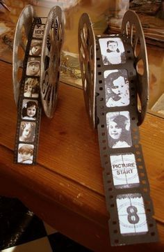 DIY your Christmas gifts this year with GLAMULET. they are compatible with Pandora bracelets. We could do movie reels as the photo bars at the bottom of the pages Deco Theme Cinema, Cinema Party, Movie Party, Movie Theater Wedding, Wedding Movies, Diy Birthday, Birthday Gifts, Movie Reels, Movie Reel Decor