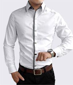 Men's Button Down Shirt with Shoulder Details