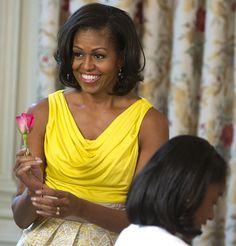 Michelle Obama in Rachel Roy | Tom + Lorenzo