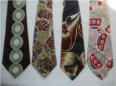 1940's ties  - I love these ties for their big, bold graphics.