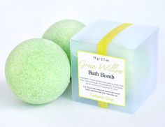 Oil and Butter Bath Bomb - Gift Idea - Homemade Bath Bombs - Creamy Fizzy - Cucumber Bath Bomb - Bath Products - Fun Gifts - Green Willow