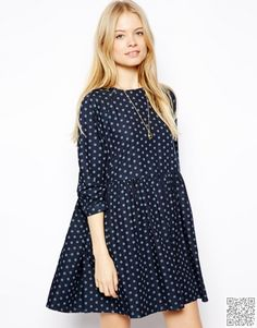 Order ASOS Denim Spot Smock Dress online today at ASOS for fast delivery, multiple payment options and hassle-free returns (Ts&Cs apply). Get the latest trends with ASOS. Bridesmaid Dresses Floral Print, Floral Maxi Dress, Cute Dresses, Casual Dresses, Fashion Dresses, Asos Fashion, Party Dresses, Fashion Trends, Mode City