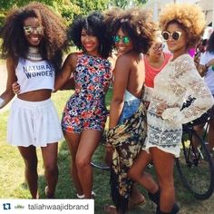 #Repost @taliahwaajidbrand with @repostapp.  Hair on point...style on point! We all have our ride or die group. Tag yours in the comments below!   #NaturalVibes #TaliahWaajid #Curlyhair #IloveNaturalHair #HealthyHair #NaturalHair #TeamNatural #SummerVibes #BossFriends #Friends #Friendship #Friendsforever