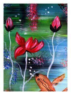 Abstract Nautical Acrylic Painting by Ladydarinefinecrafts on Etsy Nursery Paintings, Seascape Paintings, Home Decor Wall Art, Nursery Decor, Underwater Sea, Acrylic Art, Handmade Crafts, House Colors, Digital Prints