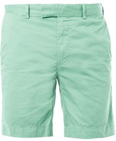 Buy Polo Ralph Lauren Mint Slim Fit Cotton Shorts for $65:  http://lookastic.com/men/mint-shorts/shop/polo-ralph-lauren-slim-fit-cotton-shorts-15850
