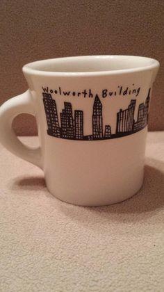 Homer Laughlin China New York Skyline Coffee Mug Fishs Eddy NYC | WorthPoint