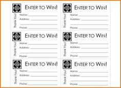 free printable raffle ticket template Raffle Ticket Templates & Ideas ...