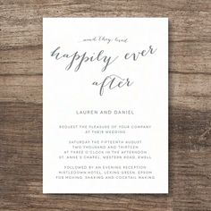 happily ever after wedding invitation by lola's paperie | notonthehighstreet.com
