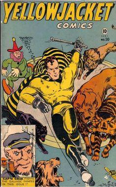 Yellowjacket Comics (Charlton) - Comic Book Plus Comic Book Covers, Comic Books, Charlton Comics, Classic Comics, Vintage Comics, Golden Age, Novels, Superhero, December 22