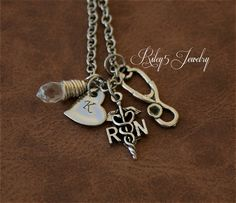 Hey, I found this really awesome Etsy listing at https://www.etsy.com/listing/177462273/rn-registered-nurse-charm-stethoscope