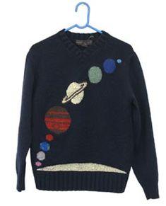 solar system sweater