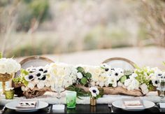 """The most popular of the 2014 wedding flower trends is 'Blush and Gold'. Here's an Australian-seasons list for building lush """"blush and gold"""" wedding flowers Wood Centerpieces, Centerpiece Decorations, Reception Decorations, Flower Decorations, Wedding Centerpieces, Wedding Tables, Wedding Ideas, Anemone Wedding, Wedding Flowers"""