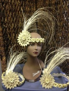 Te Namu side headpiece    | CaliforniaHulaCenter - Clothing on ArtFire
