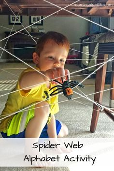 Spider Web Alphabet Activity Letter Recognition