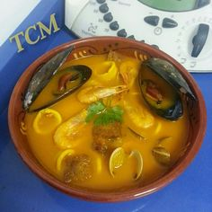 Sopa de marisco Thermomix Thai Red Curry, Carne, Seafood, Eat, Ethnic Recipes, One Pot Dinners, Tasty Food Recipes, Rice, Cooking
