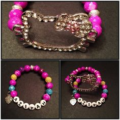 Hey, I found this really awesome Etsy listing at https://www.etsy.com/listing/158362232/hello-kitty-bracelet-set