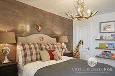 Our Farmhouse Renovation Reveal Part 4 – The Twin's Rooms and Bathroom @ A Well Dressed Home Country Boys Rooms, Little Boys Rooms, Kid Rooms, Big Boy Bedrooms, Shared Bedrooms, Farmhouse Renovation, Beautiful Bedrooms, Boy Room, Room Inspiration