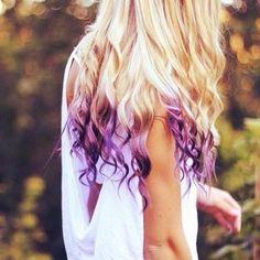 I love how the purple looks like flames in her hair!!