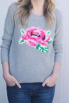 DIY Cross-Stitch Sweater