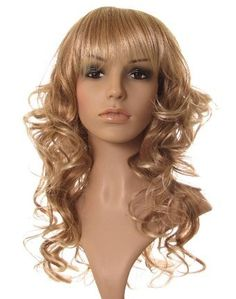 Long blonde curly wig with blonde highlights ! by Wonderland Wigs. $33.95. 100% Kanekalon synthetic fibre - high quality natural look. Stunning long blonde curly wig. Discreet packaging. Same day despatch. NOTE: A genuine version of this item is ONLY available to buy from Wonderland Wigs. Other sellers are selling copies of this item and not a genuine 'Wonderland Wigs' branded item. You are likely to be very disappointed if you buy a cheap copy of this item. This stunni...