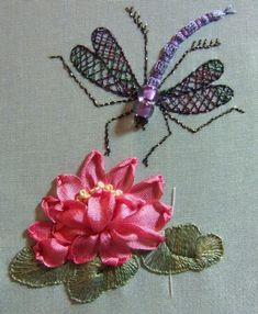 Dragonfly on Waterlily turquoise pincushion kit by lornabateman22, $40.50