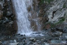 San Antonio Falls in the San Gabriel Mountains, Mount Baldy.
