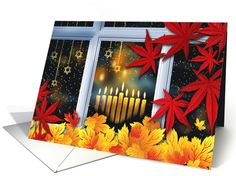 Hanukkah and Thanksgiving Theme Card. Personalize any greeting card for no additional cost! Cards are shipped the Next Business Day. Product ID: 1172026 Thanksgiving Blessings, Thanksgiving Scriptures, Fall Harvest, Autumn Fall, Happy Hanukkah, Greeting Cards, Invitations, Seasons, Holiday