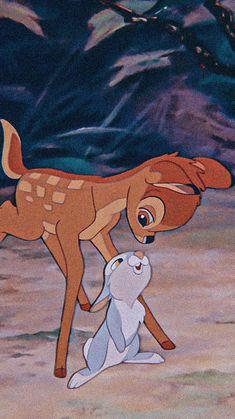 bambi aesthetic picture that i edited Disney Phone Wallpaper, Cartoon Wallpaper Iphone, Cute Cartoon Wallpapers, Cartoon Pics, Old Disney, Disney Art, Disney Pixar, Disney Movies, Lapin Art