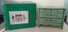 Vintage Tynietoy Dresser Green Cottage Bedroom Early 30's with Original Box | eBay