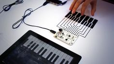 """Bare Conductive: """"# touchboard + #midi + #iPad Magic! It works great! Video to follow soon... pic.twitter.com/eeamFC7uBl"""""""