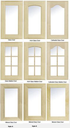 Glass Cabinet Door Styles the glass (sash) cabinet doors in the upper cabinet open up the