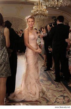 Amazing light pink long dress