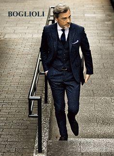 BOGLIOLI Mens Fashion Summer Outfits, Mens Fashion Suits, Mens Suits, Stylish Men, Men Casual, Mens Attire, Sharp Dressed Man, Men's Wardrobe, Suit And Tie