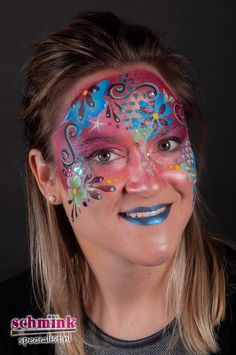 - Famous Last Words Lisa Frank, Famous Last Words, Face Art, Airbrush, Carnival, Make Up, Painting, Painted Faces, Anime Art Girl