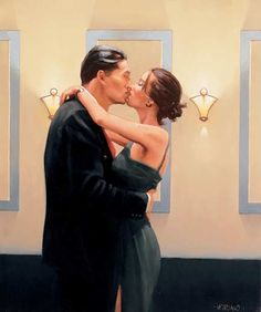 Jack Vettriano Betrayal First Kiss 2001 oil painting for sale