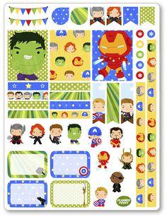 Héroes Vengador decoración Kit / extensión semanal por PlannerPenny