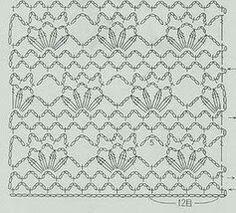 from 262 patrones crochet Crochet Stitches Chart, Crochet Diagram, Crochet Patterns, Crochet Earrings Pattern, Textiles, Crochet Blouse, Rubrics, Pattern Books, Crochet Clothes