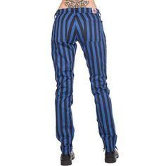 Close unisex striped pants black / blue